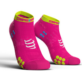Compressport Pro Racing V3.0 Run Low Chaussettes, fluo pink